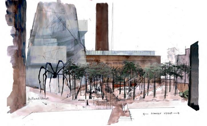 Bankside Urban Forest perspective spider