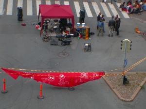 Red skeleton banner