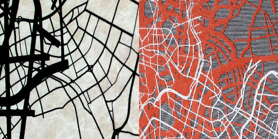 Urban pattern as inspiration for textile design