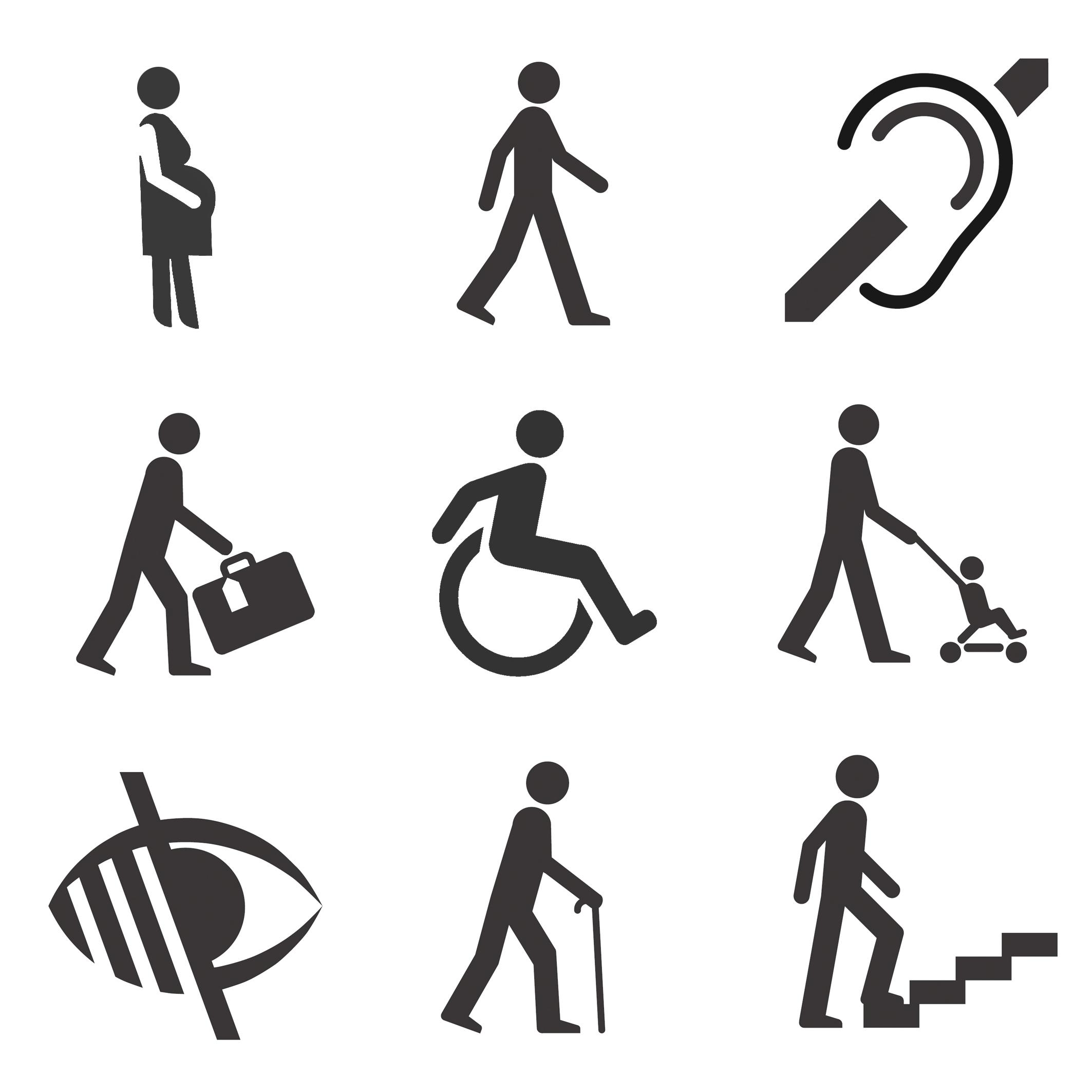 inclusiveiconsnine logo - Bir binanın engellilere uygun olup olmadığını gösteren logo var mı?