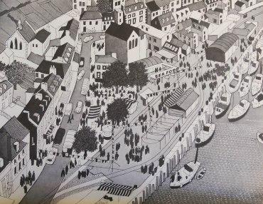 kaupunki piirretty